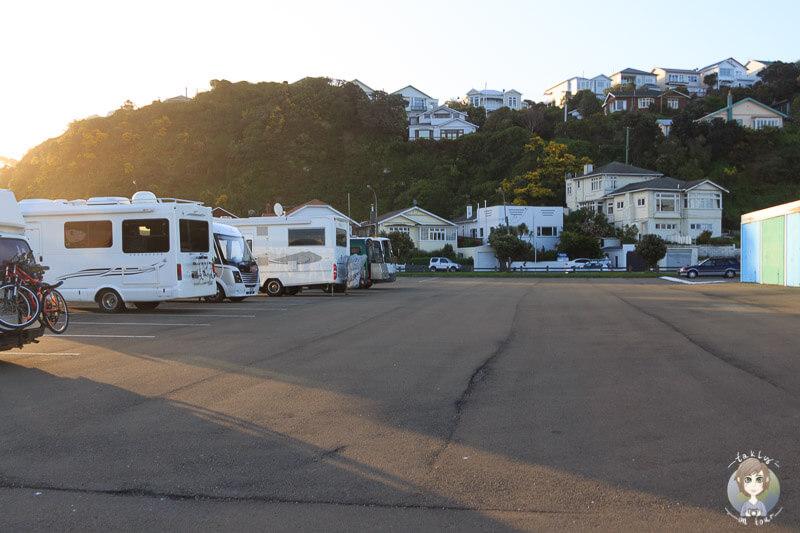 Stellplätze für Camper in Wellington, Neuseeland
