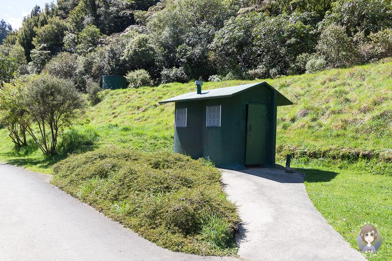 Toiletten auf dem Manganuku DOC Campingplatz