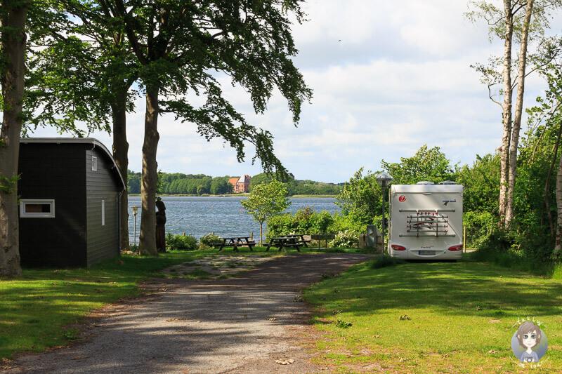 Unser Stellplatz auf dem Nysted Strand Camping, Dänemark