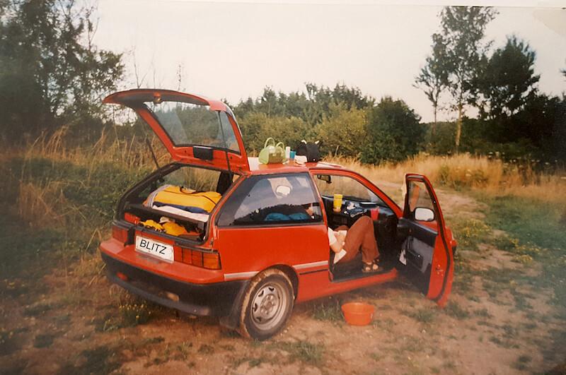 Mit dem ersten Wildcamping Auto in Frankreich