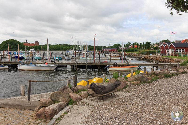 Der kleine Hafen von Nysted, Lolland