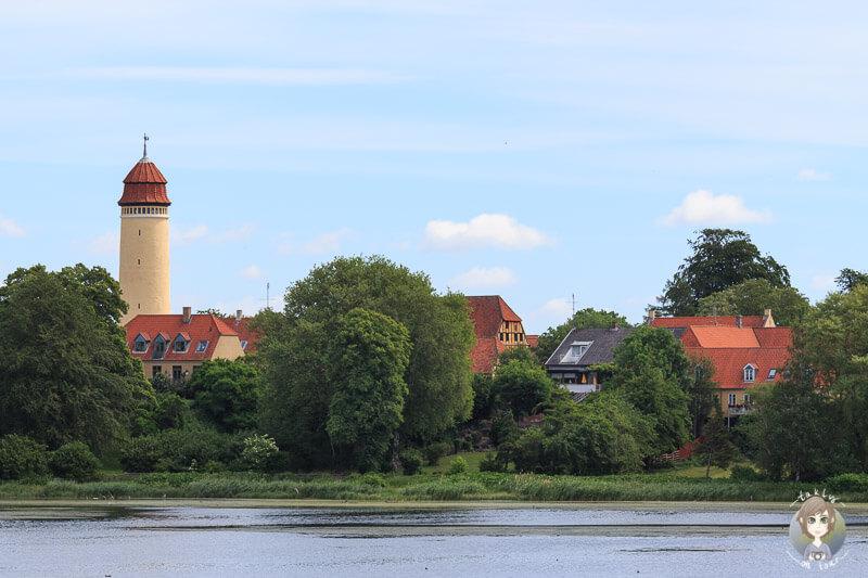 Blick auf den Wasserturm von Nysted
