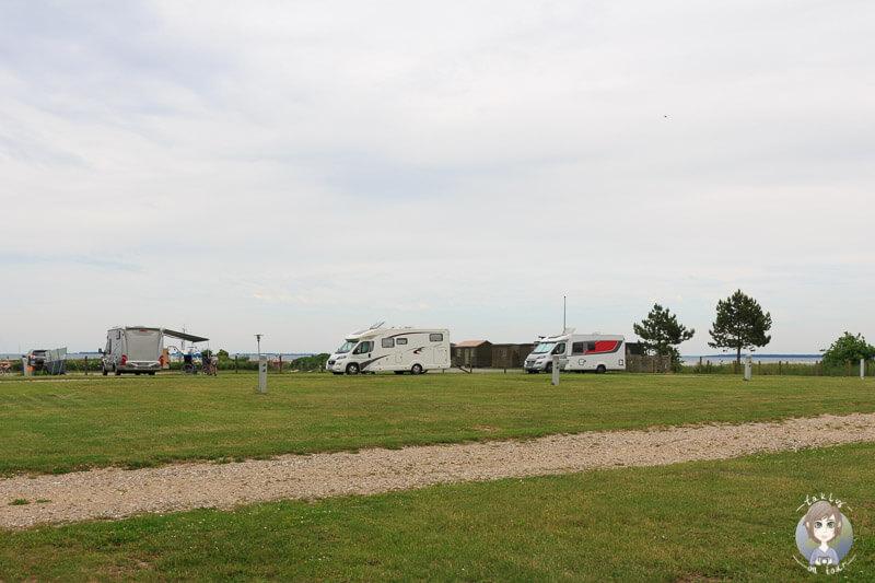 Der schöne Campingplatz in Kragenæs, Lolland, Dänemark