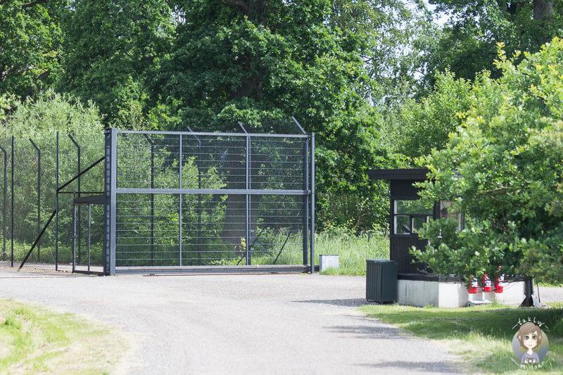 Die Schleuse zum Tigergehege im Safaripark Knuthenborg
