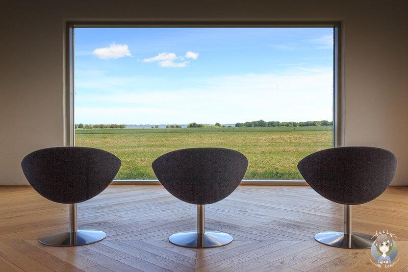 Toller Ausblick vom Fuglsang Kunstmuseum in Dänemark