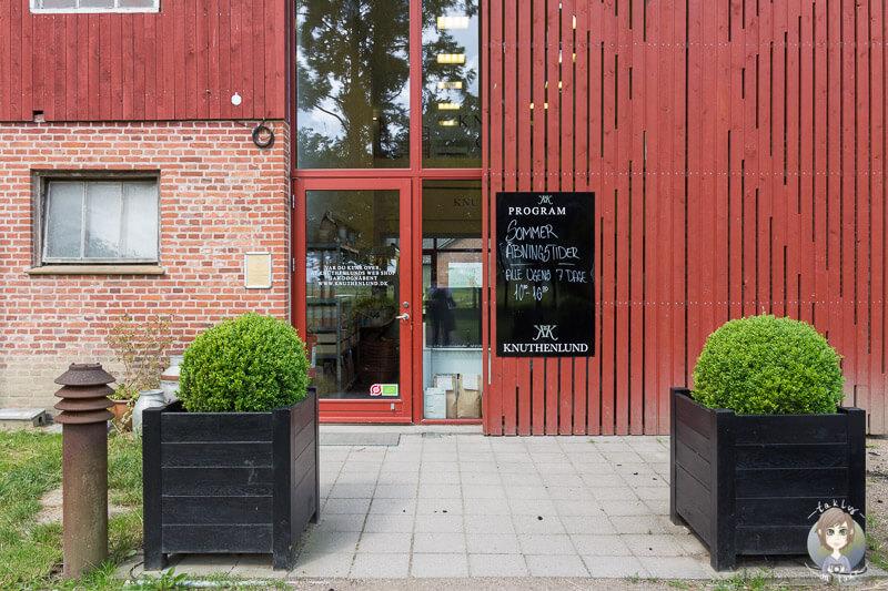 Eingang zum Bauernladen Knuthenlund in Lolland