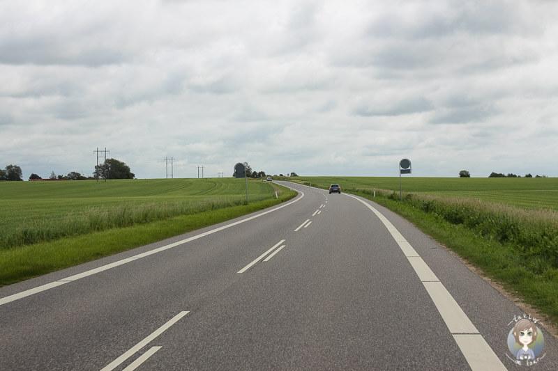 Fahrt Richtung Nysted, Dänemark