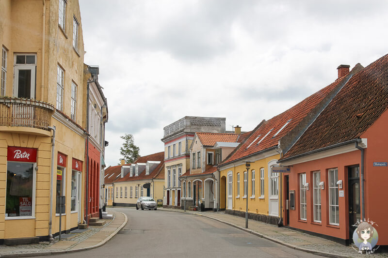 Fahrt durch Nysted in Lolland