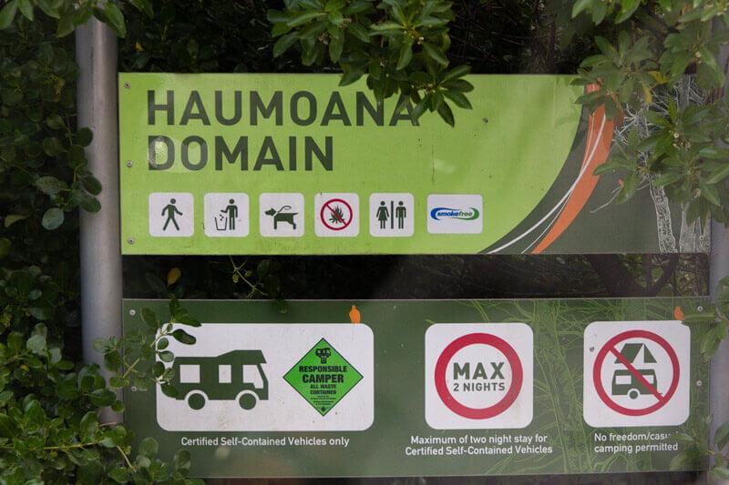Ein ausgewiesener Freedom Camping Platz in Neuseeland