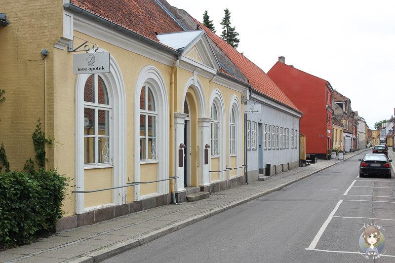 Historische Gebäude in Nysted, Dänemark