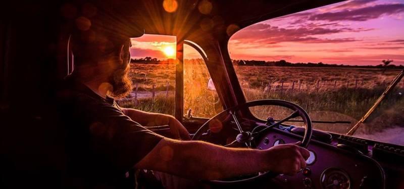 Sonnenuntergang im Steyr - herman unterwegs