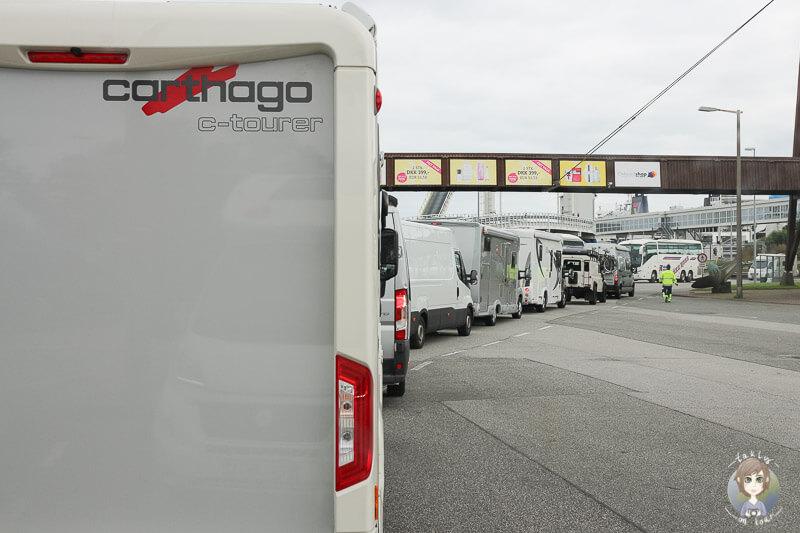 Mit dem Wohnmobil von Fehmarn nach Rødby, Dänemark
