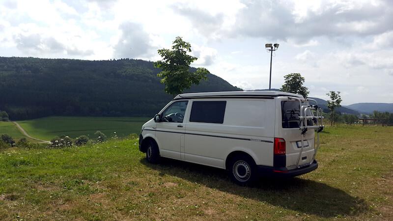 VW Bus Paul in der Nähe vom Bodensee