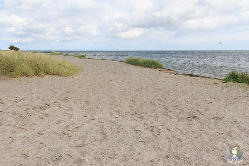 Schöner Sandstrand in Nysted, Dänemark