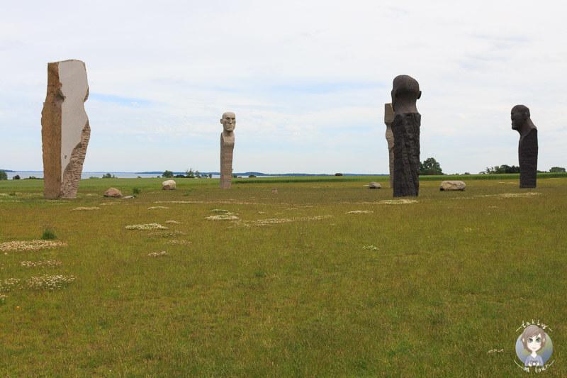 Das singende Denkmal Dodekalitten in Kragenæs, Dänemark