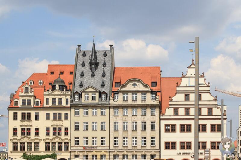 Am Marktplatz in Leipzig