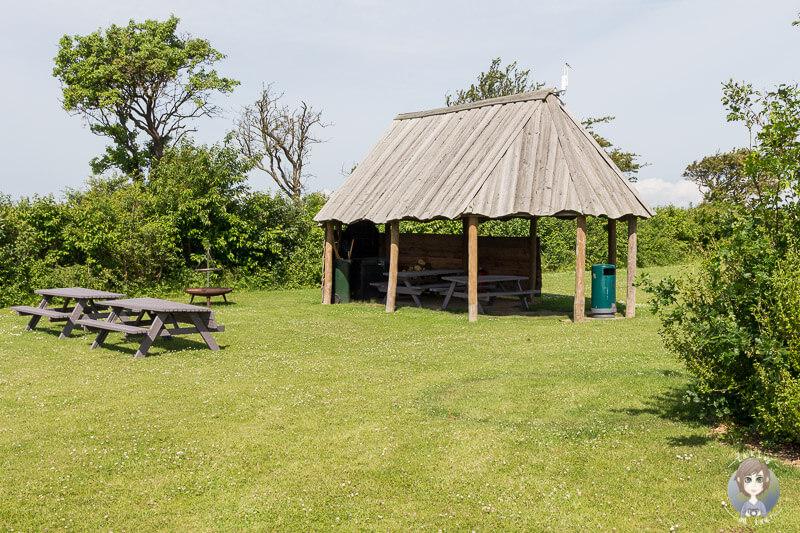 Ein schöner Grillplatz auf dem Campingplatz - Nakskov Fjord Camping