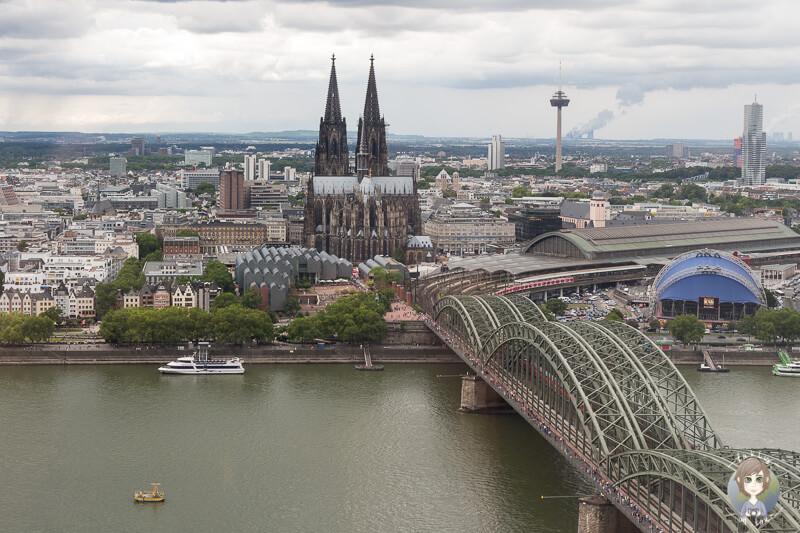 Ausblick von der Panorama Aussichtsplattform Köln