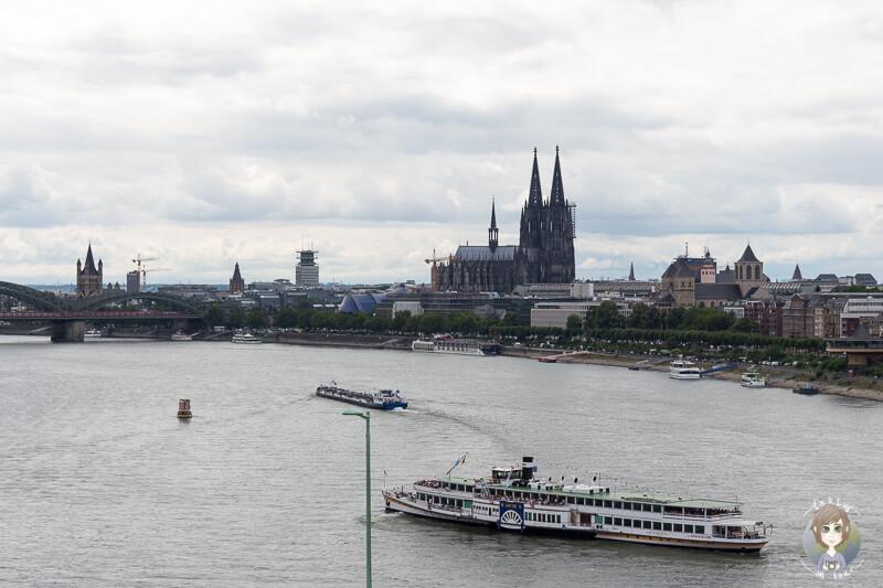 Toller Blick auf den Dom aus der Seilbahn Köln