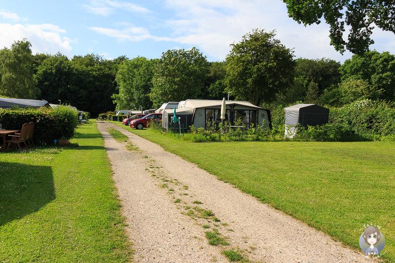 Camping auf dem Guldborg Camping Platz in Dänemark