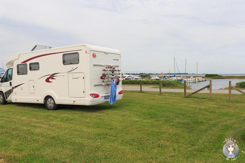 Camping auf dem Kragenæs Marina Lystcamp in Dänemark