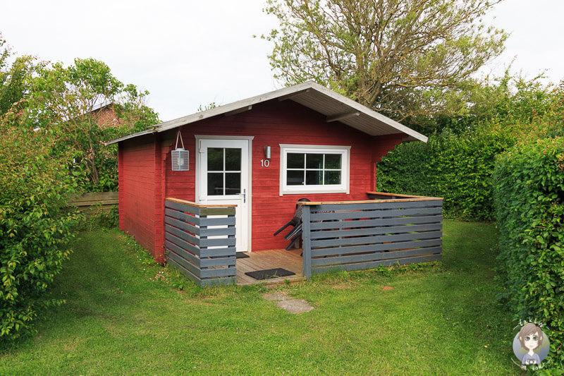 Campinghütte auf dem Guldborg Camping in Dänemark