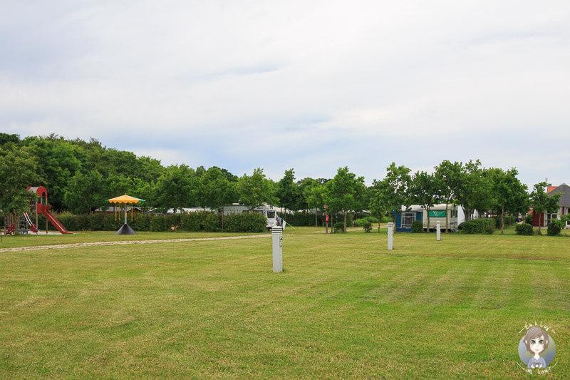 Campingplatz mit Strom