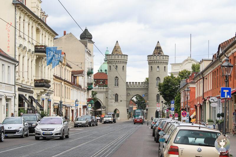 Blick auf das Nauener Tor in Potsdam