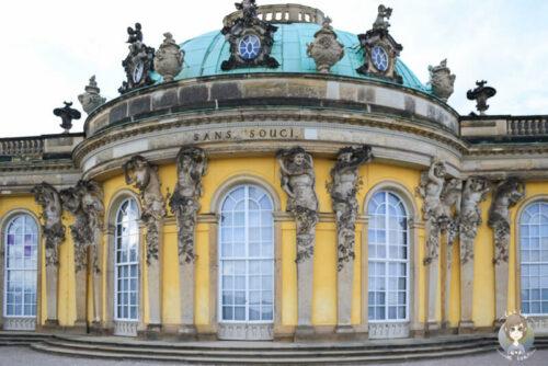 Die Südseite des Schloss Sanssouci in Potsdam