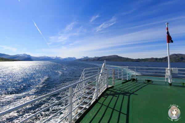 Aussicht auf einer Fähre in Norwegen