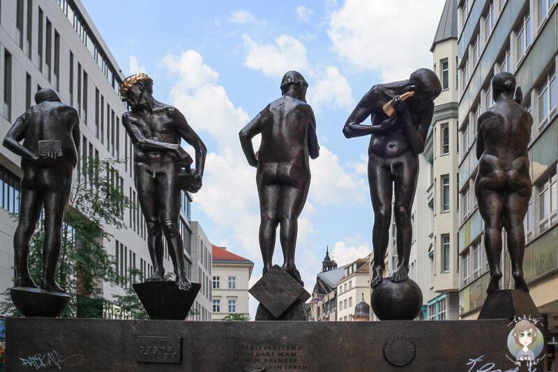 Figuren in der Leipziger Innenstadt
