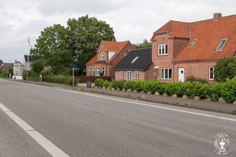 Die Hauptstraße von Guldborg, Region Lolland