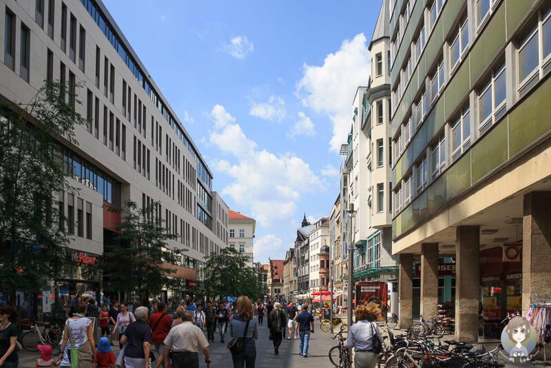 Einkaufsstrasse von Leipzig - Shopping