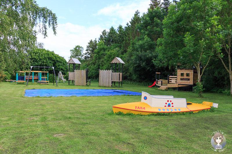 Kinderspielplatz auf dem Guldborg Camping in Lolland