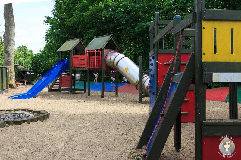 Kinderspielplatz auf dem Nysted Strand Camping, Dänemark