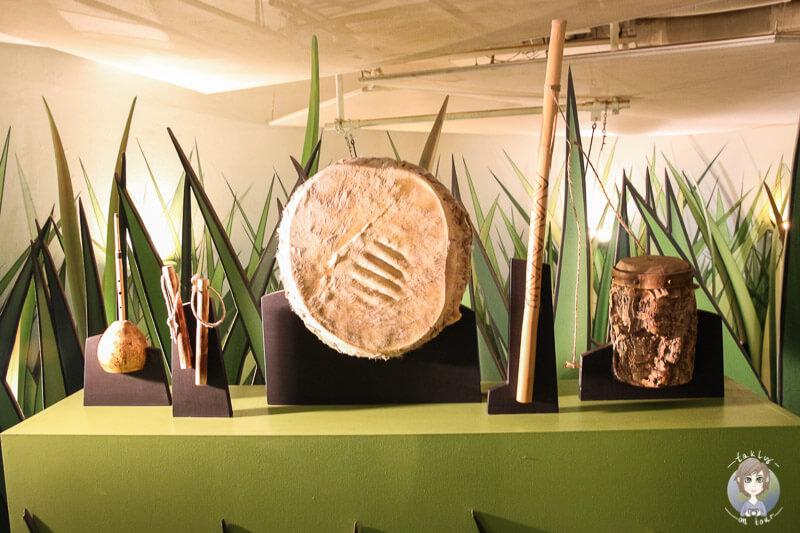 Eine Ausstellung von Werkzeugen im Klimahaus Bremerhaven