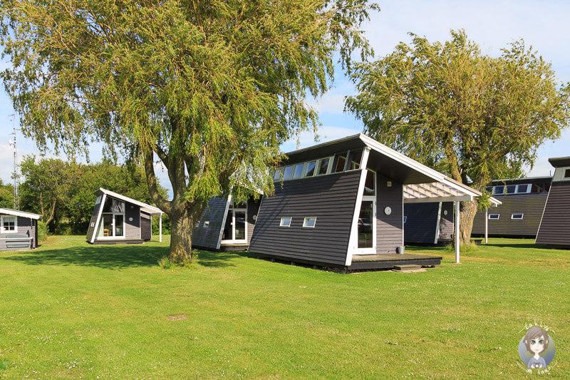 Luxuscampinghütten auf dem Nakskov Fjord Camping