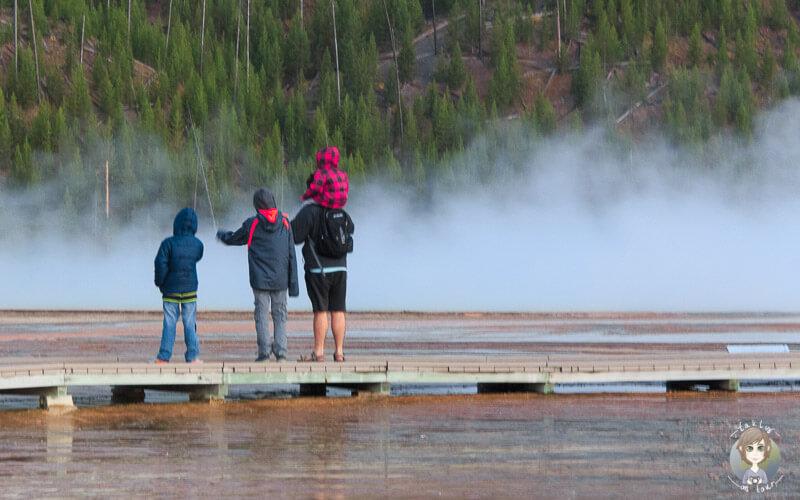 Eine Familie macht eine Reise in der Elternzeit nach Amerika