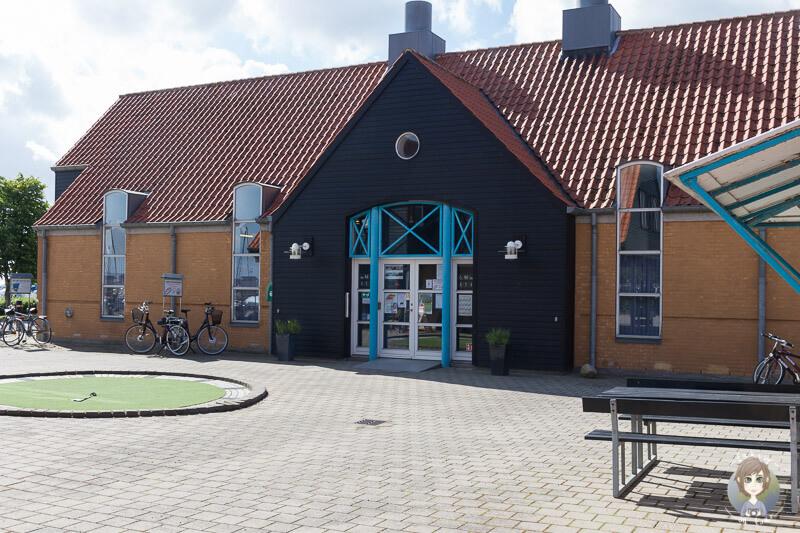Sanitärgebäude auf dem Kragenæs Marina Lystcamp