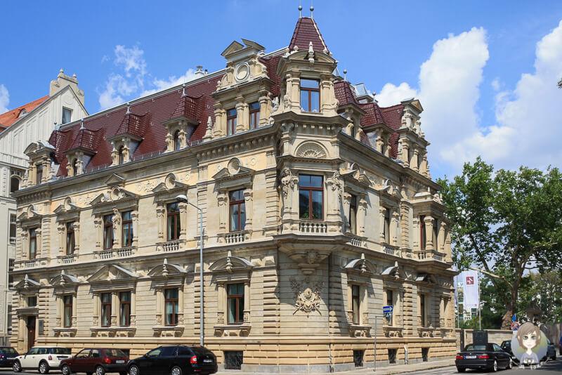 Ein schönes Gebäude in der Nähe vom Rossplatz in Leipzig