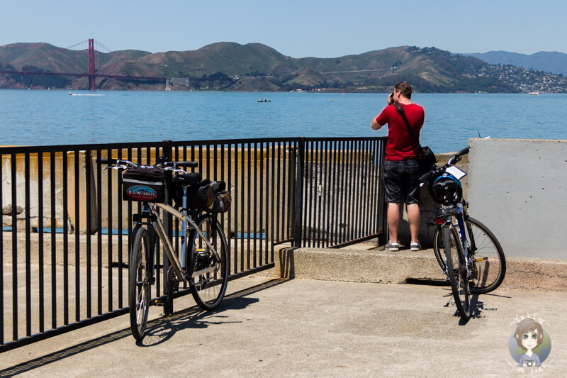 Auf einer Fahrradtour durch San Francisco kurzer Fotostopp