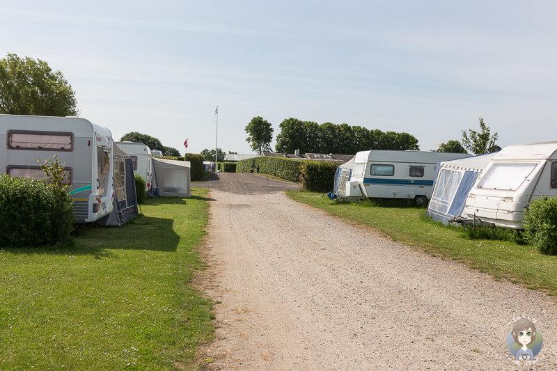 Stellplätze auf dem Nakskov Fjord Camping in Dänemark