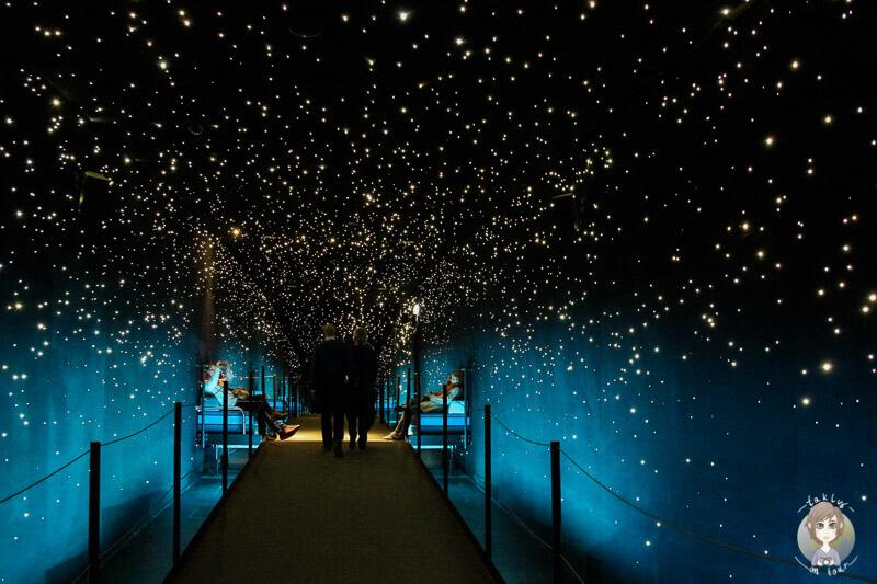 Das Klimahaus präsentiert einen traumhaften Sternenhimmel