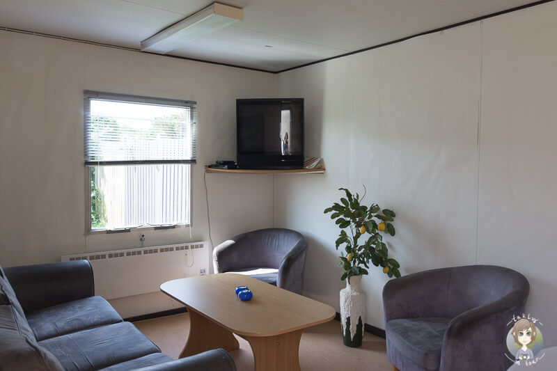 TV Raum auf dem Nakskov Fjord Camping