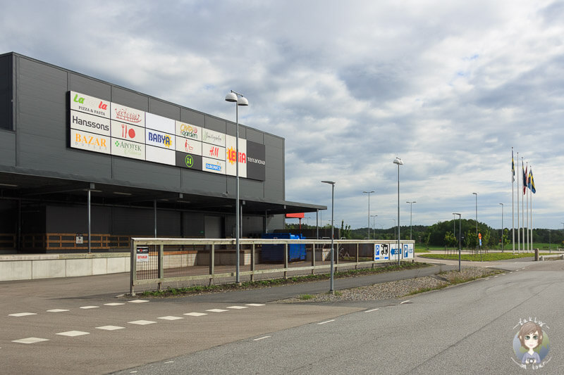 Das Shoppingcenter in Tanumshede, Schweden