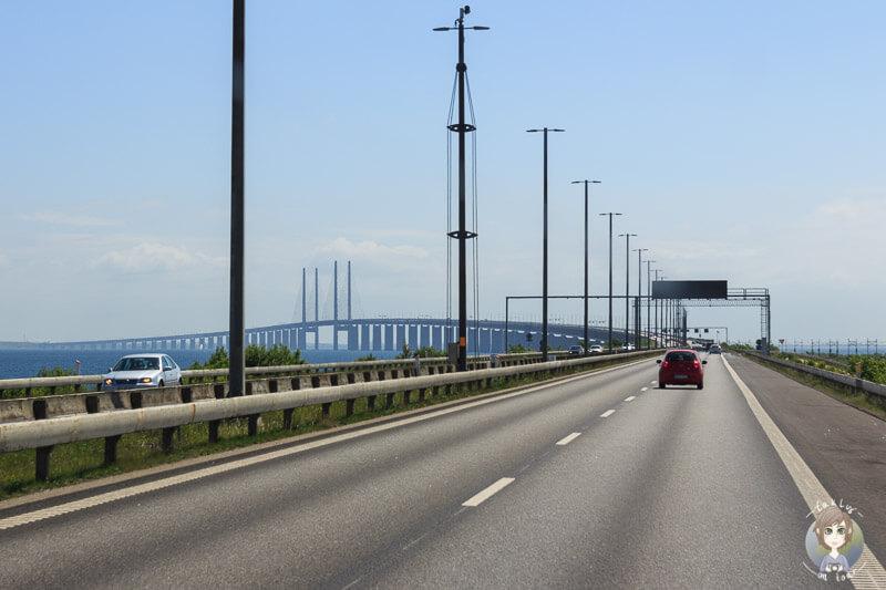 Fahrt Richtung Öresundbrücke