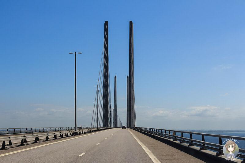 Fahrt über die Öresundbrücke Richtung Schweden