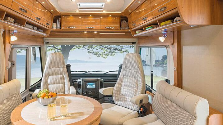 Innenraum eines Hymer Reisemobils