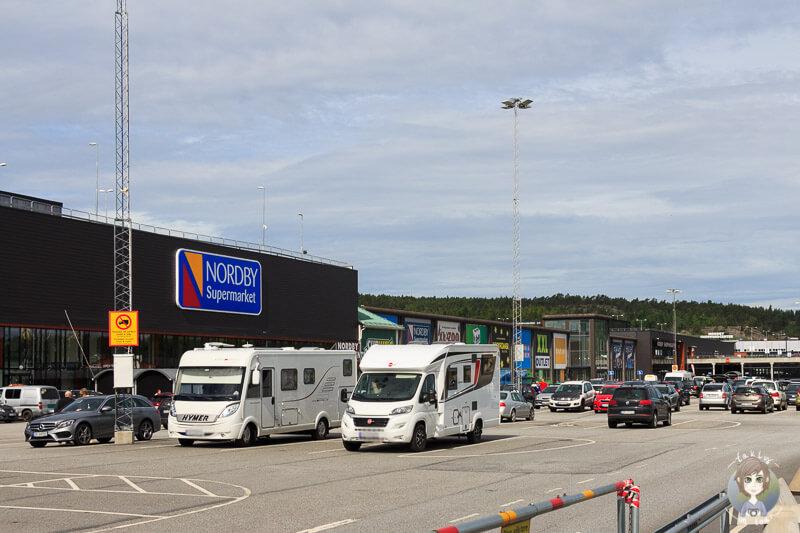 Shoppingcenter in Nordby in Schweden