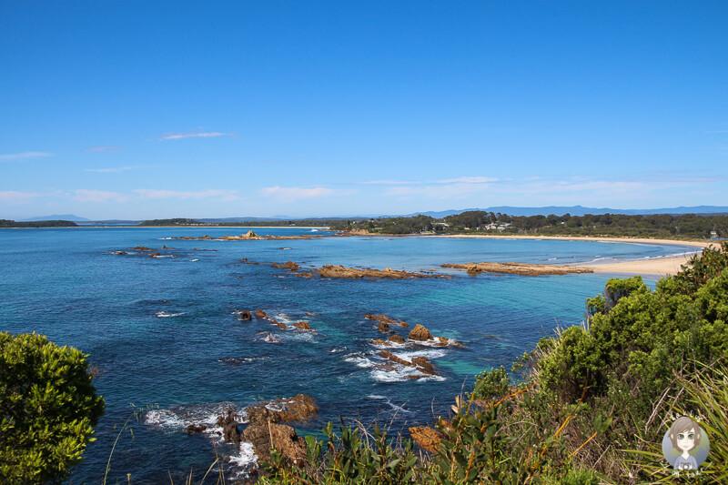 Ausblick vom Melville Point in Tomakin, NSW